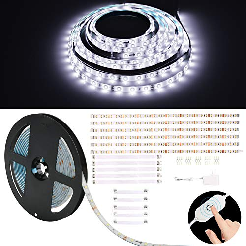 Under Cabinet LED Lighting kit, 6 PCS LED Strip Lights Dimmable Flexible Ribbon Lights Bar Under Counter Lights for…