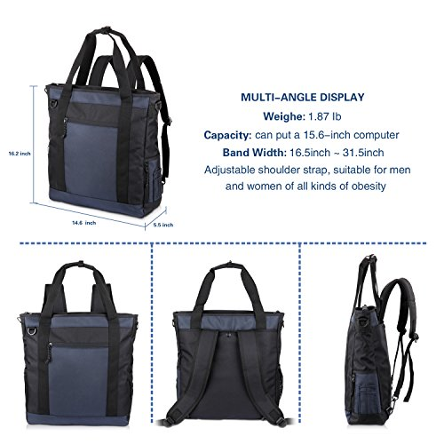 f64348e2f270 JTW Product Laptop Bag 3-Use Package Canvas Briefcase Business Office Bag  Waterproof Backpack Lightweight Multifunctional Messenger Bag Fits 14 Inch  ...