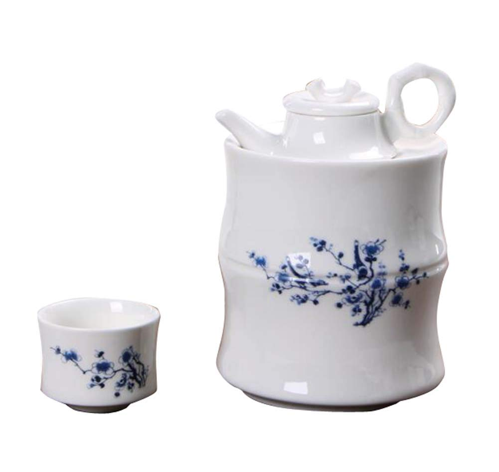 DRAGON SONIC Warm Wine Pot Set, Ceramic Sake Set, Wine Separator, E04