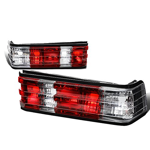 For 1984-1993 Mercedes-Benz 190D/190E W201 Pair Red/Clear Lens Tail Light Brake/Reverse Lamps
