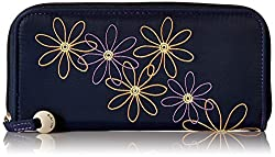 Travelon Safe Id Daisy Ladies Wallet, Navy