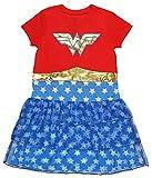 DC Comics Girls' Big Wonder Woman 'Costume Logo' Pajama Nightgown, Multi, 6/6X