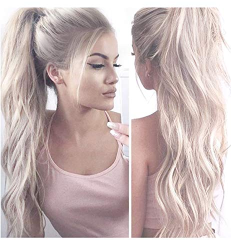 Vébonnie Fashion Ombre Blonde Lace Front Wigs for Women Dark Rooted Honey Blonde  Wigs uk Best Synthetic Hair Front Lace Front Wig Costume Very Natural ... 72360c4991