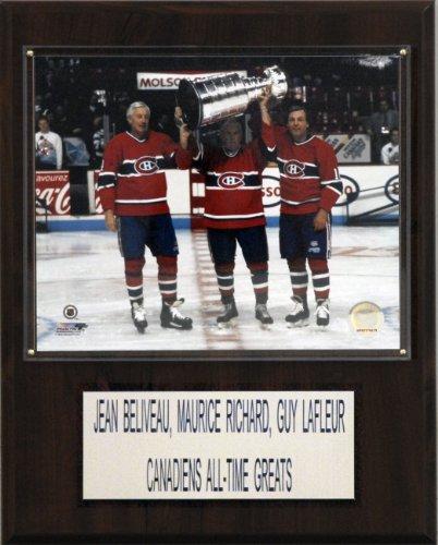 NHL Beliveau-Richard-Lafleur Montreal Canadiens Player Plaque Montreal Canadiens Collectibles