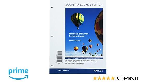 Essentials of human communication books a la carte edition 9th essentials of human communication books a la carte edition 9th edition 9780134202457 communication books amazon fandeluxe Images