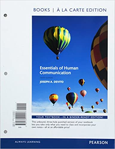 Essentials of human communication books a la carte edition 9th essentials of human communication books a la carte edition 9th edition 9th edition fandeluxe Choice Image
