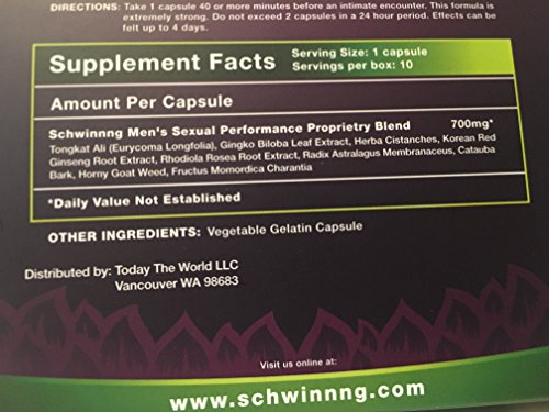 SCHWINNNG * SUPER STRENGTH NEW ALL NATURAL MALE ENHANCEMENT PILL * from the makers of SUSTAIN