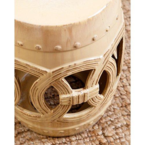 Abbyson Deborah Ceramic Garden Stool Buy Online In Uae