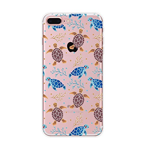 Lovely Turtle - iPhone 5s Case, iPhone Se Case, Slim Transparent Silicone TPU Protective Cover for 4.0