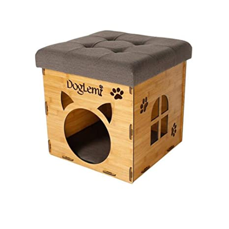 FH Extraíble y Lavable cálido Gato casa Pet Nest Suministros Cat litera Cama Gato Suministros