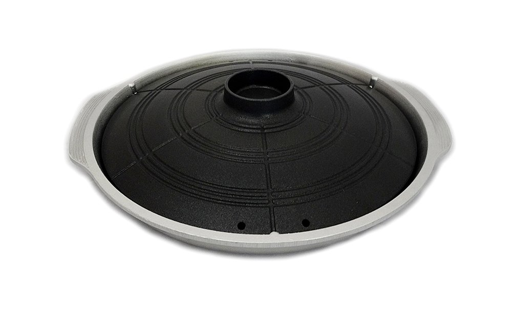 Excelife Korean Caldron Lid Style Stove Top Grill Pan, Black
