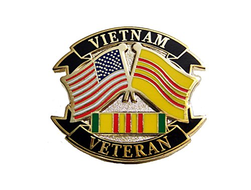 Vietnam Veteran USA Flags Pibbon Marines Navy Army Air Force Lapel Hat Pin PPM7506 (1 Pin)