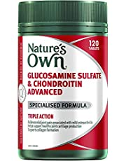 Nature's Own Glucosamine Sulfate and Chondroitin Advanced - Maintains Healthy Joints - Supports Collagen Formation, 120 Tables