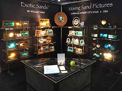 Amazing Shifting Sand Pictures - Large Cherry Frame (Ocean Blue) Best Men's Gifts, Corporate Gifts, Family Gifts for all ages! Made in America. Lava Lamp - Lava Lite - Hourglass - Liquid Sand Timer by Exotic Sands (Image #5)