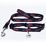 Buffalo Bills Pet Set Dog Leash Collar ID Tag LARGE