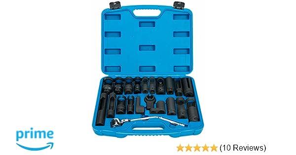 8milelake 21pcs Oxygen Sensor Socket Set Sensor Oil Pressure Sending Unit Socket Set