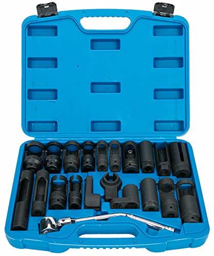 8MILELAKE 21pcs Oxygen Sensor Socket Set Sensor Oil Pressure Sending Unit Socket Set by 8MILELAKE