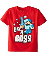 Jinx Minecraft  Boy's Like A Boss Youth T-Shirt