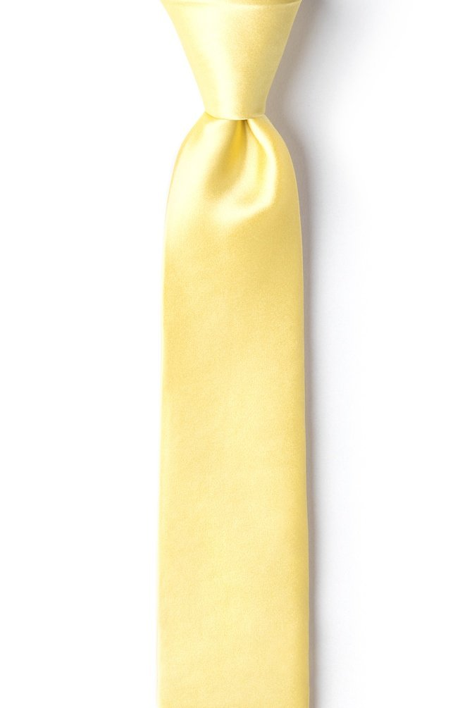 Yellow Silk Boys Tie | Sunshine Yellow Boys Necktie