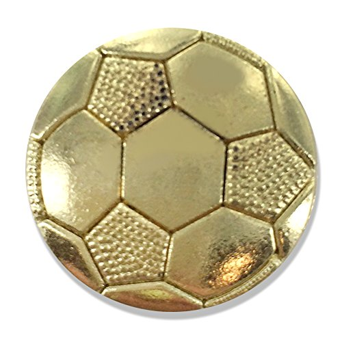 Awards and Gifts R Us 7/8 Inch Soccer Chenille Gold Lapel Pin - Package of 20, Poly Bagged