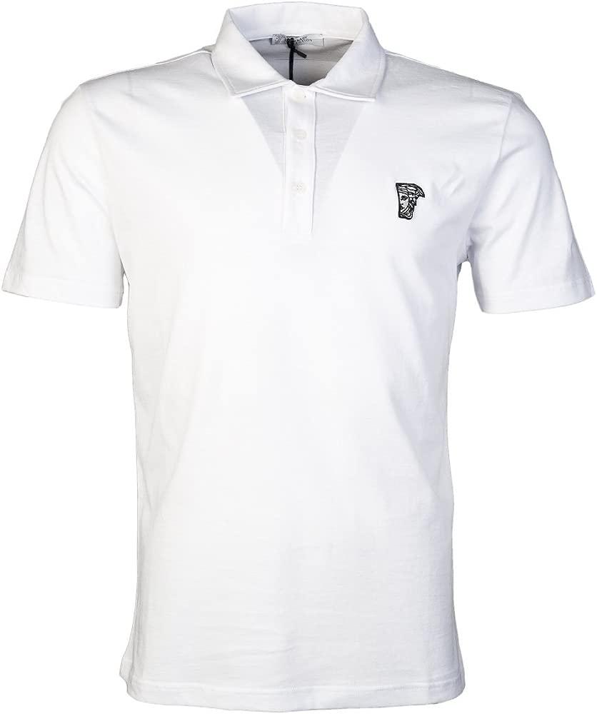 Versace Polo - Para Hombre Blanco Blanco: Amazon.es: Ropa y accesorios