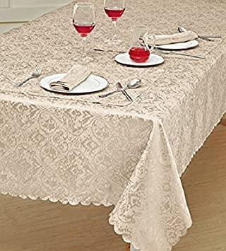 Christmas Creme Red Gold Linen-look Table runner Doily Tablecloth Cushion cover