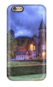 Durable Protector Case Cover With Castle Light Hedge Tree Grass Digital Hot Design For Iphone 6