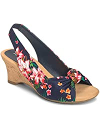 ZEN Garden Open-Toe Canvas Slingback Sandal