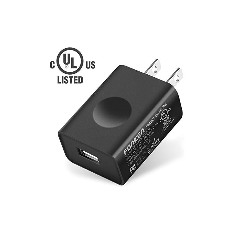 UL Certified USB Wall Charger, FONKEN 5V