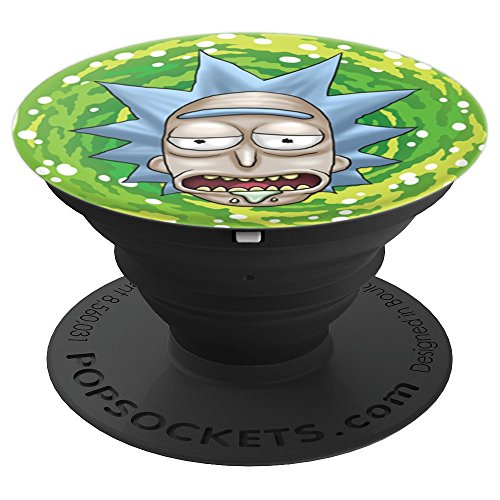 Rick and Morty - Rick Sanchez just here for the booze - PopSockets Grip and Stand for Phones and Tablets