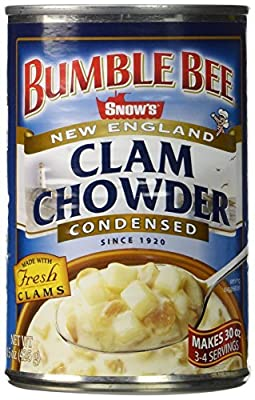 Snows New England Clam Chowder, Condensed, 15-ounce Cans (Pack of 6) by Snow's