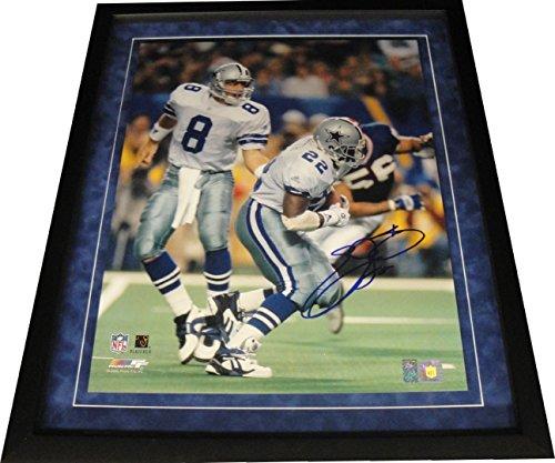 Emmitt Smith Hand Signed Autograph 16x20 Photo Dallas Cowboys Troy Aikman (Emmitt Smith Hand Signed)