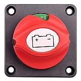 Battery Switch, 6V 12V 24V 48V 60V Battery Disconnect Master Cut Shut Off Switch for Marine Boat RV ATV UTV Vehicles, Waterproof Heavy Duty Battery Isolator Switch, 275/1250 Amps