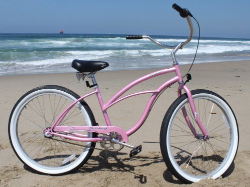 Firmstrong Urban Lady Three Speed Beach Cruiser Bicycle, 26-Inch, Pink Top Deals