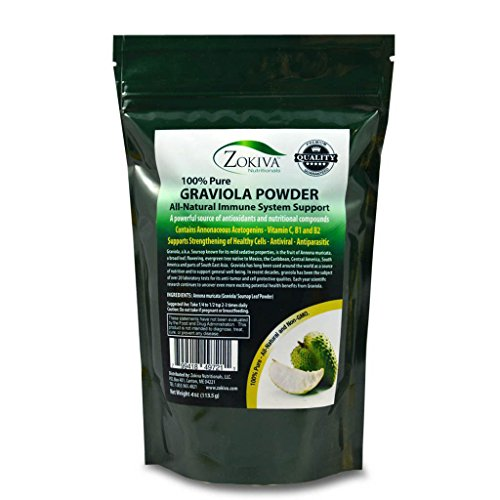 Graviola Leaf Powder 4 oz (Soursop) Annona muricata - Premium Quality 100% Pure