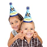 Airplane - Cone Birthday Party Hats - 8 Count
