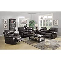 Coaster Home Furnishings Coaster 601931 Motion Sofa, Two-Tone Dark Brown, Willemse Motion Collection
