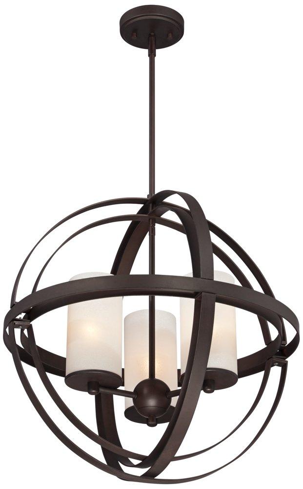 Morris 21 wide 3 light bronze sphere pendant light amazon aloadofball Gallery