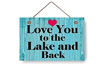 wendana love you to the lake and back beach wood signsbeach house decor wall