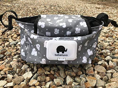 Kinderwagen Organizer Universale Baby Kinderwagentasche mit Rei/ßverschluss Unverzichtbares Kinderwagen-Zubeh/ör Aufbewahrungstasche Stil 1/_ Hund