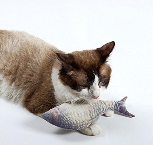 LLZ shop Catnip Cat Toys Fish Shape Plush Doll - Simulation Plush Fish Toy - Interactive Pets Pillow Chew Bite Supplies - Artificial Fish Toy - For Cat/Kitty/Kitten Flop Cat - Shape Shop