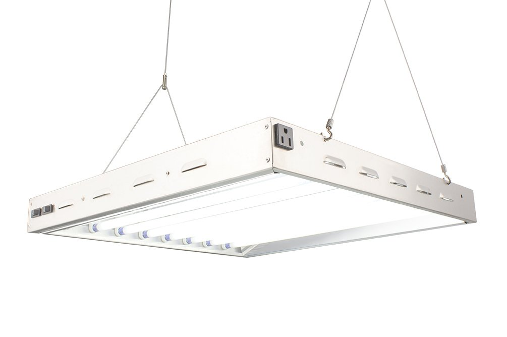 Durolux T5 HO Indoor Grow Light - 2 Ft 8 Lamps - DL8028S Fluorescent w 6500K and 20000 Lumen Grow Light System comes with 8 bulbs