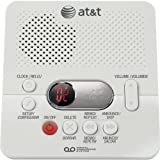 AT&T 1740 Digital Answering System with Time and Day Stamp, White