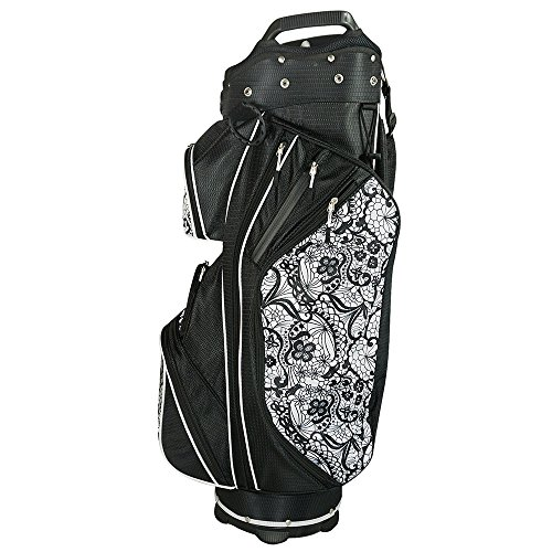 Hot-Z 2017 Golf Time Square Cart Bag with Head Covers Black/Lace