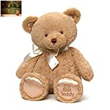 Gund My First Teddy Bear Baby Stuffed Animal, 18 inches and Premium Folding Greeting Card by Kimberly Anderson Collection - Bundle Two Items