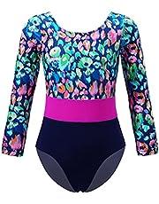 YUUMIN Gymnastics Leotard for Girls Long Sleeves Dance Unitard One Piece Athletic Bodysuit Outfits