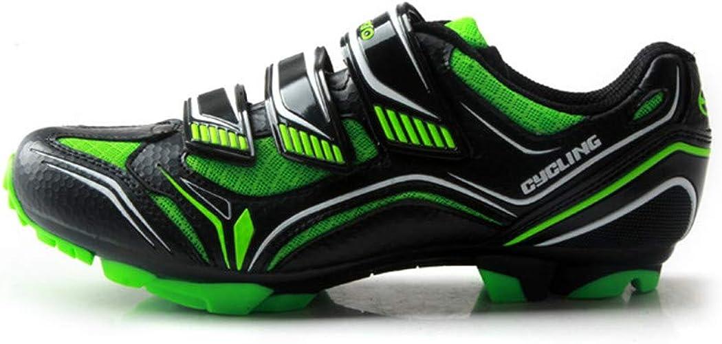 Zapatillas de Ciclismo Unisex para Bicicleta de montaña, Verde ...