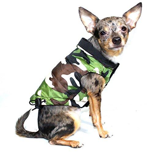 Hip Doggie Reversible Puffer Vest - Black/Camo (Reversible Puffer Vest)
