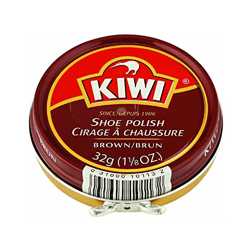 Kiwi Shoe Polish Paste, Brown, 1-1/8 Ounces, 3-pack -