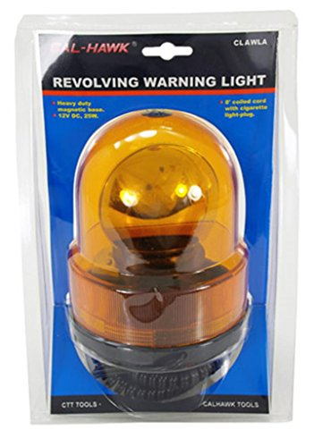 Cal Hawk Tools CLAWLA Amber Revolving Warning Light ()